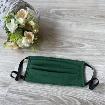 Ochranná rouška - bavlněná zelená