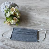 Ochranná rouška -bavlněná tmavě šedá