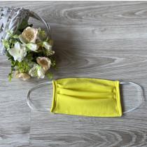 Ochranná rouška - bavlněná žlutá